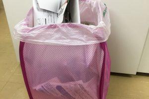 ダイソーの「ホッピングバッグ」が、モノの整理をするときに臨時の大きなゴミ箱として便利