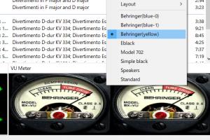 foobar2000に実用も兼ねてクールな「VUメーター」を「Columns UI」を用いて追加で配置する